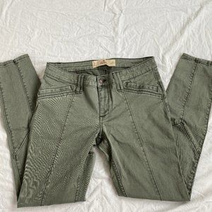 Hollister Co Army Green Seamed Cotton Skinny Pants